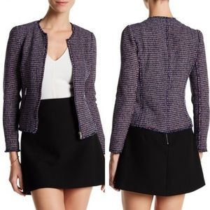 NWT Rebecca Taylor Graphic Tweed Jacket